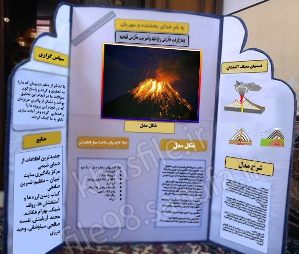 طرح مدل جابربن حیان – چگونه آتشفشان بسازیم