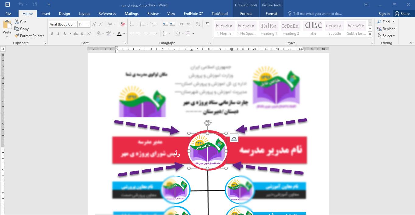 پروژه مهر - چارت آماده پروژه ی مهر